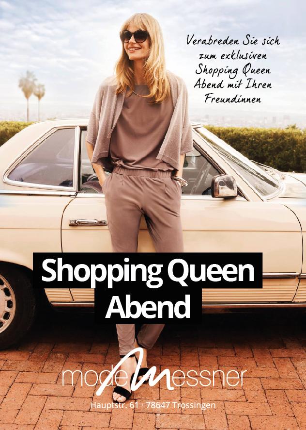Flyer Shopping Queen Abend